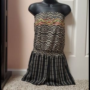 Xhilaration Strapless Romper Cover up NWT